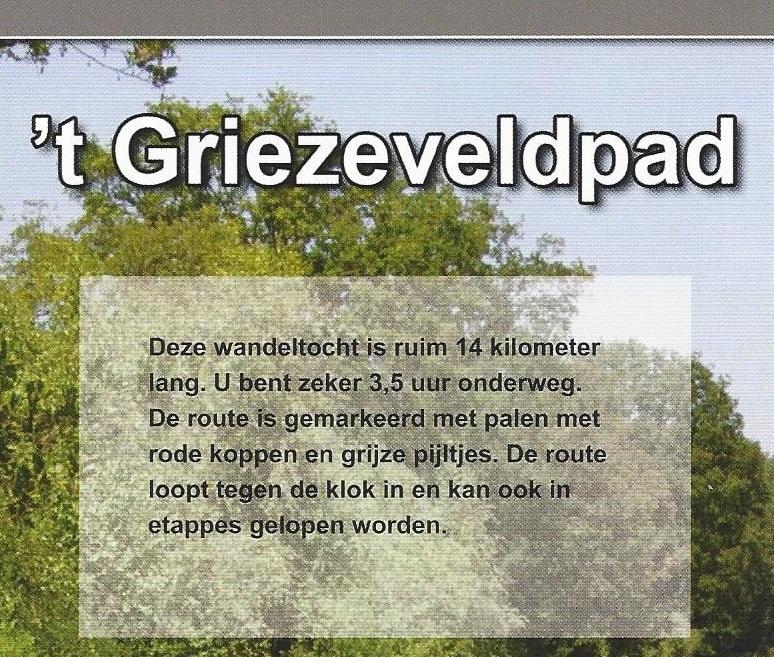 Wandelroute 't Griezeveldpad