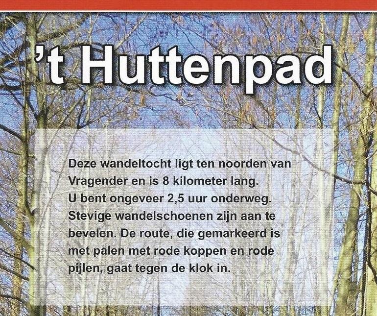 Wandelroute 't Huttenpad
