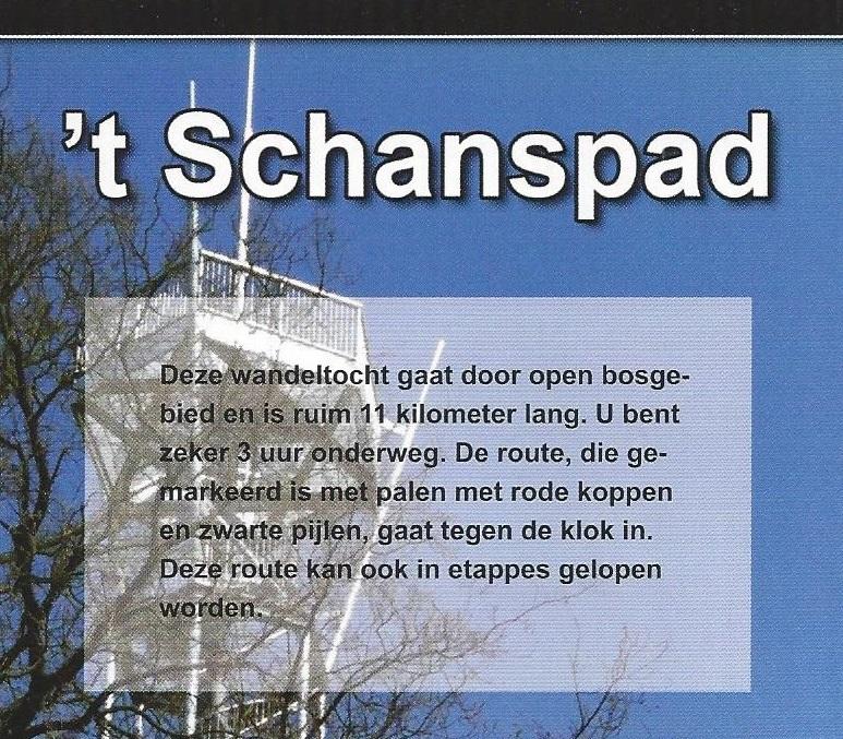 Wandelroute 't Schanspad