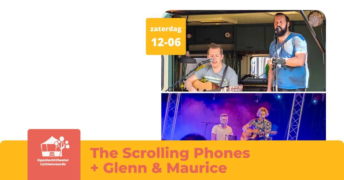 Openluchttheater: Scrolling Phones+ Glenn & Maurice